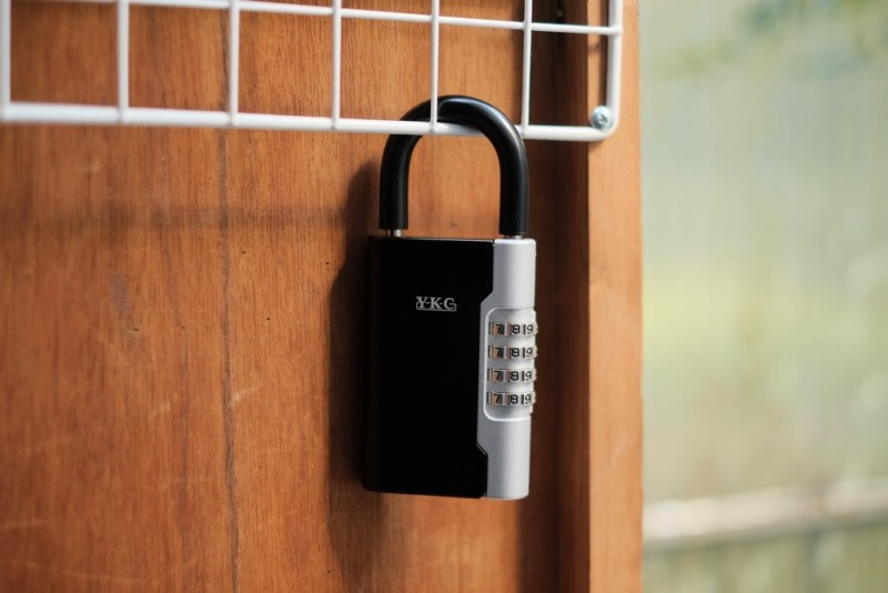 南京錠型キーボックス(暗証番号式)「ロックポケット LP-600(吉野金属)」|設置