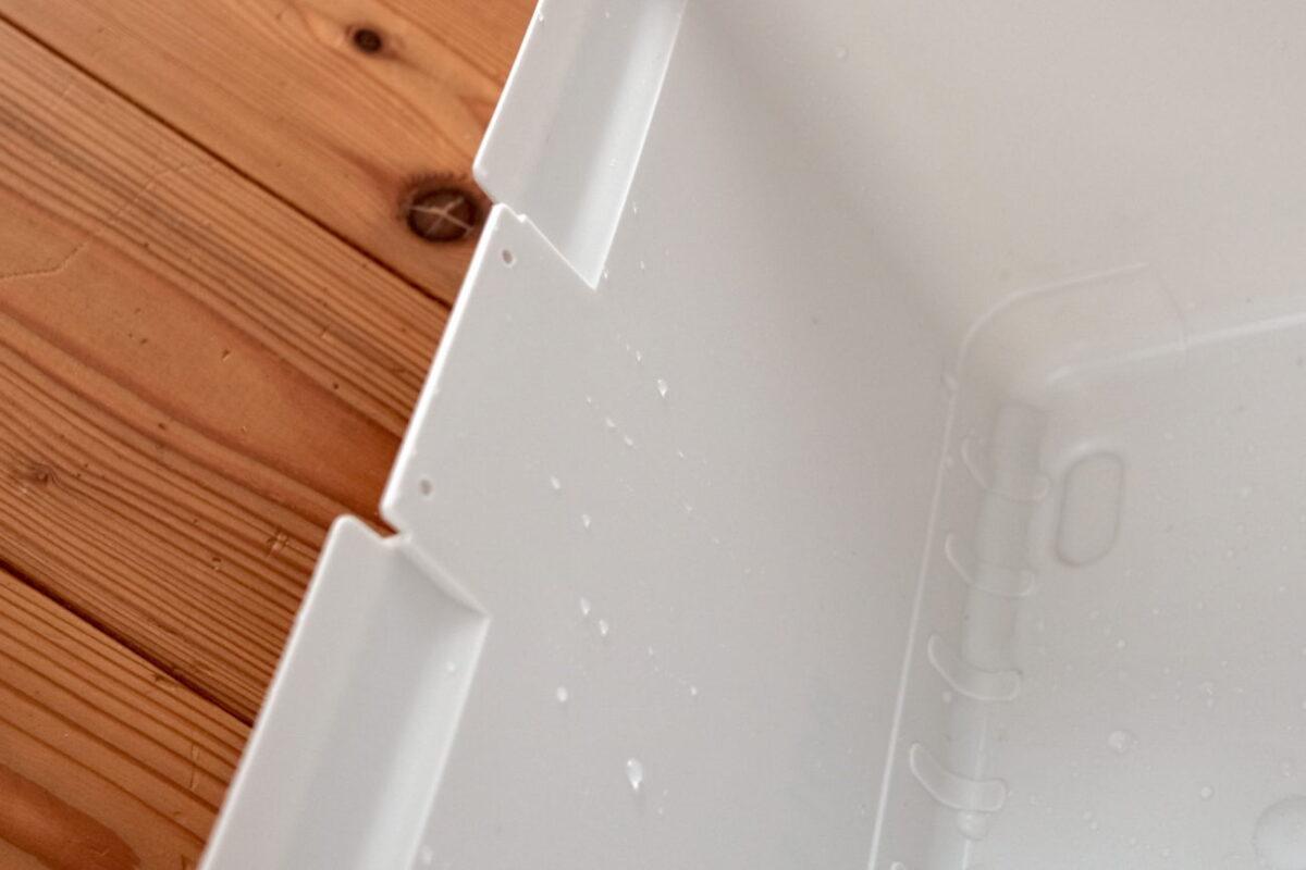 ホリデーランドクーラー7H(伸和)|内部は濡れている