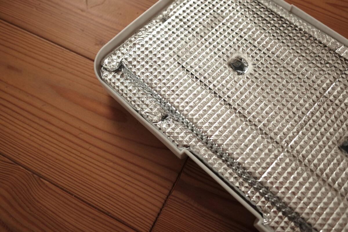 ホリデーランドクーラー7H(伸和) アルミシートで覆ったフタの断熱材
