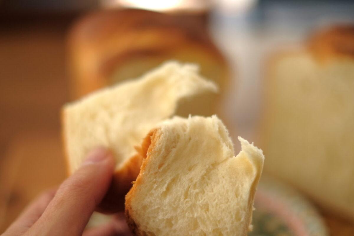北欧バター食パン(北欧倶楽部)|生のまま裂いてみる