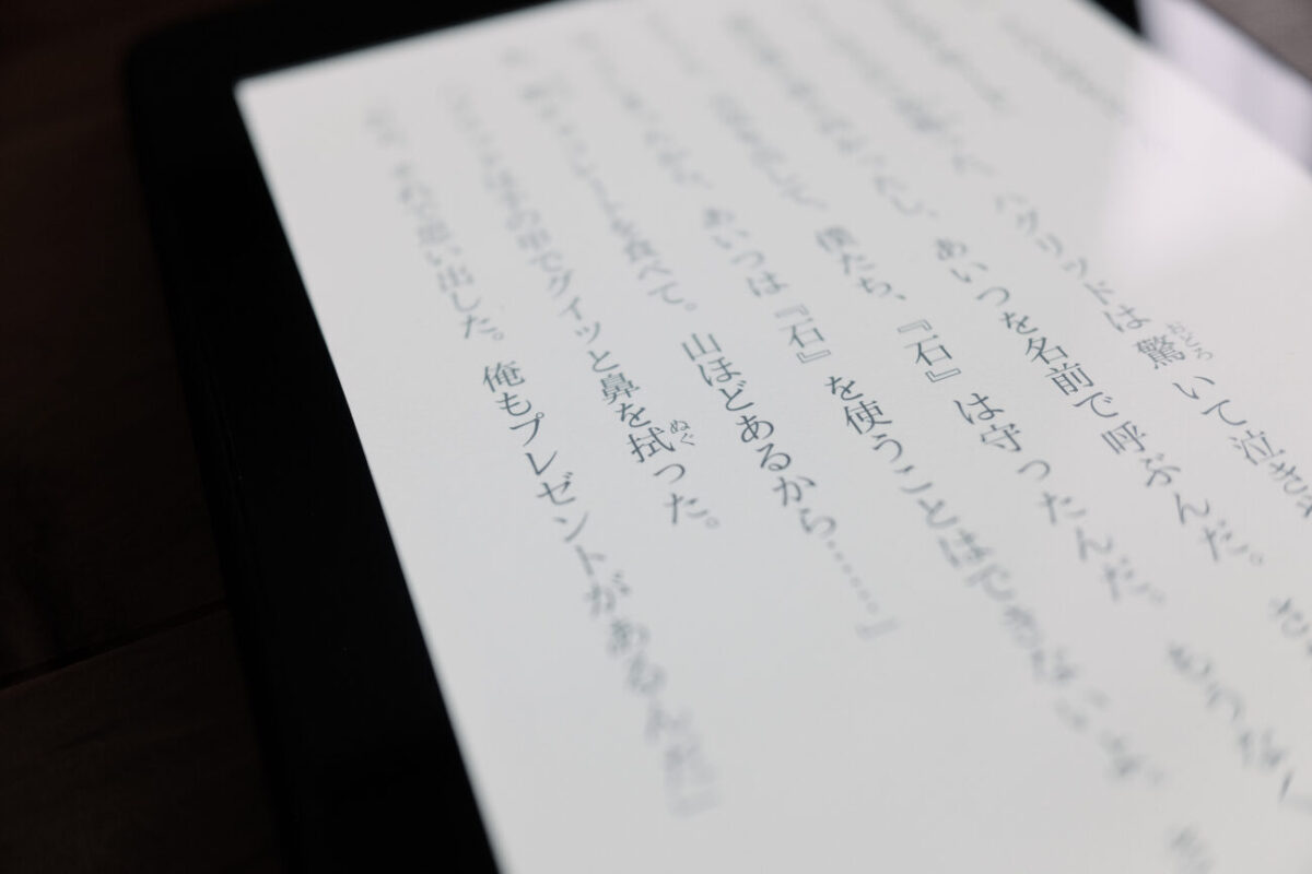 Kindle Paperwhite|文字