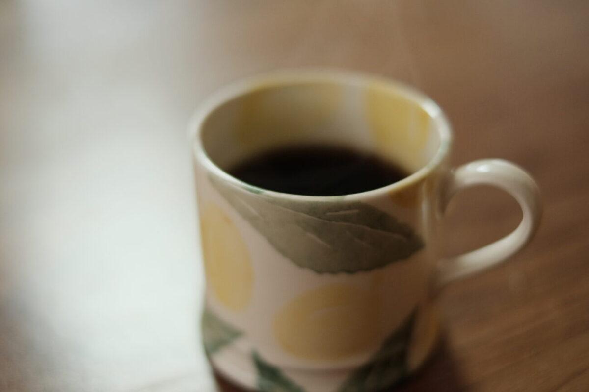 V60メタルドリッパー(ハリオ) 淹れたコーヒー