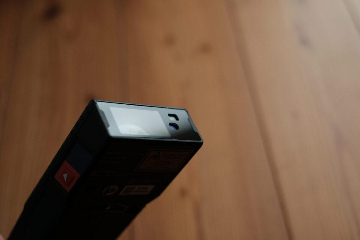 GLM150C Professional(ボッシュ)|レーザー出力部とカメラ