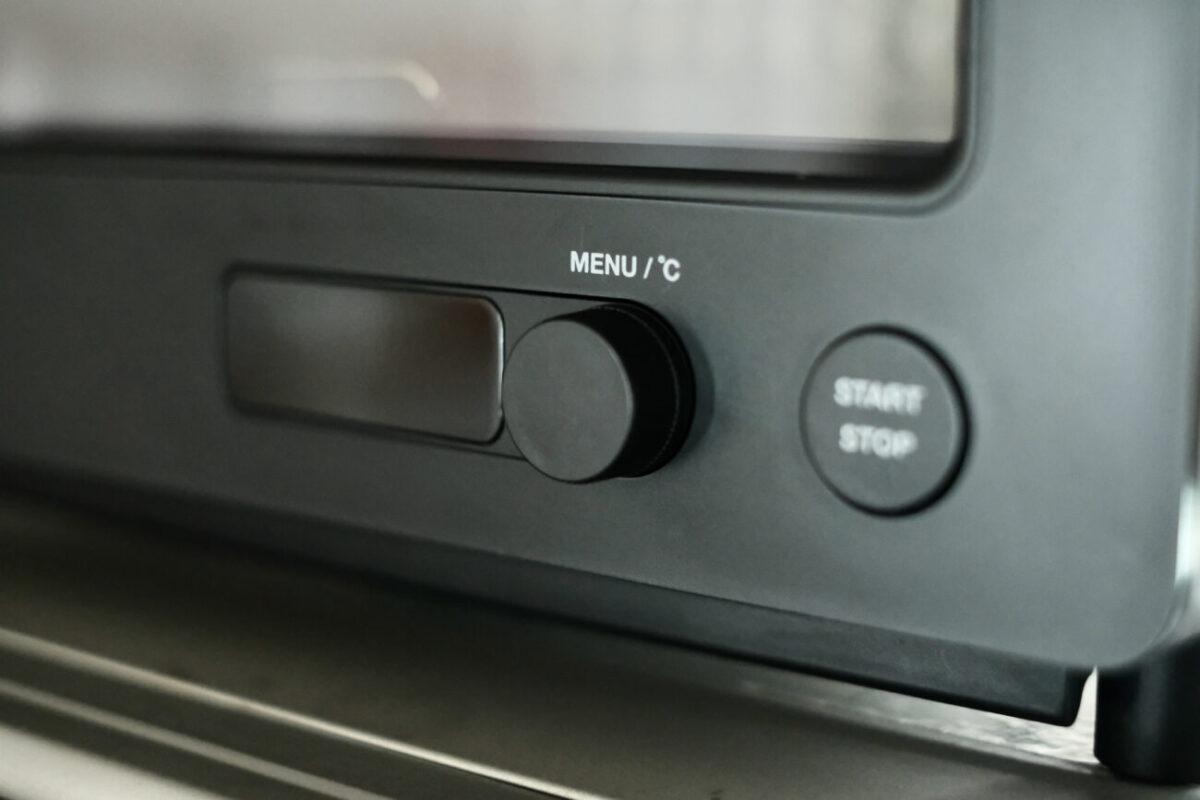すばやきトースター(シロカ)|操作ダイヤルとスタートボタン